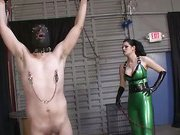 Boud slave was punished hard