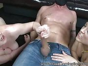Sadistic chick use slave for fun