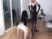 Family punishment with hot angry wife