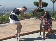Mistress humiliates her sissy boy