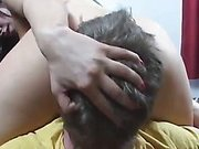Slave was used for pussy licking and ass worship
