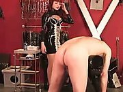 Sexy domina canes her subs bare ass