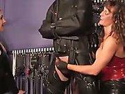 Confined slave mummified n jerked