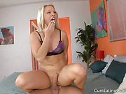 Kimmy forces her husband watch and suck dick