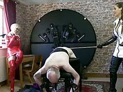 Femdom punishment with two hot mistresses