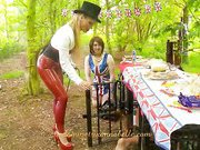 Femdom party with cool mistress