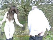 Femdom mistress humiliates her slave