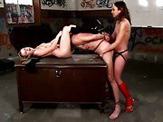 Slave is being ruled by two dominas