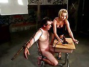 Slave gets mistreated by his mistress