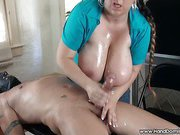Tits oil massage for penis