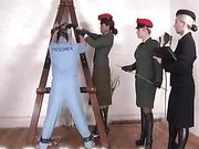 Hard military spanking with hot mistress