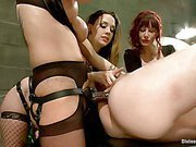 Three femdom bitches having fun