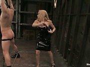 Mistress Aiden Starr punishes her slave