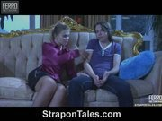 Alana nice copulates Owen's asshole by strapon