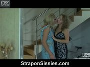 Alina boffing Elliot's asshole by strapon