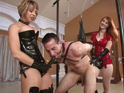 Hard strapon fucking with hot mistress