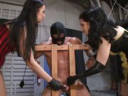 Femdom punishment with hot mistresses