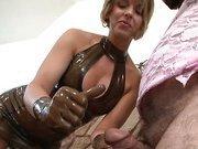 Home mistress humiliates sissy slave