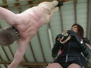Slave was punished hard by his mistress