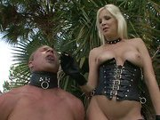 CFNM humiliation with hot blonde