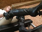 Footdom punishment with angry mistress