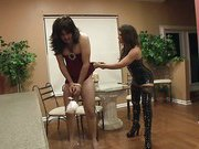 Home punishment with hot mistress