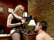 Femdom punishment in the office