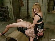 Bad slave was punished by great mistress