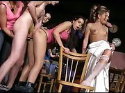 Young mistresses uses slave for pleasure