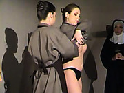 Kinky nun gave hardcore whipping and caning
