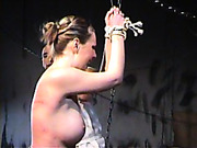 Ancient Rome style whipping for slave girls