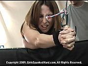 Very hard spanking for Brina