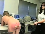 Office bitches spank each other