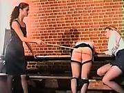 Teens got luncheon spanking