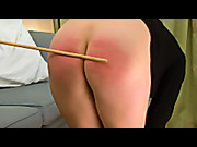 Teen ass red after caning
