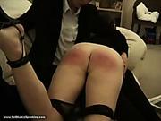 Teen got OTK spanking