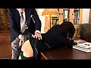 Old headmaster spanked young schoolgirl
