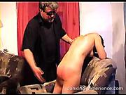Double spanking action scene