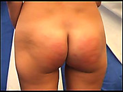 Caning lesson for a hot brunet bitch