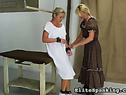 Lesbians bound and spank