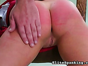 Security guards spanked disobedient little slut