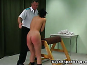 Harsh spanking for Hannah