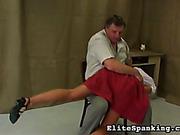 Ass, feet and hands got harsh spanking