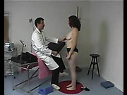 OTK spanking and bare feet strapping