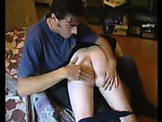 Innocent looking hottie got OTK spanking