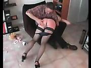 Filthy bitch got hardcore bare bottom spanking