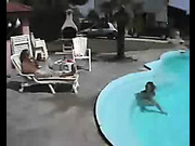 Teen was humiliated and disciplined by the pool
