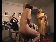 Maid was spanked hard in the parlour