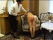 Four young girls bent and got asses caned