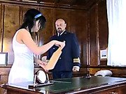 Shocking public caning in class